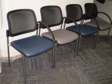 Venice Mesh Back Single Waiting Room Chairs With Or Without Arms. 4 Leg Frame. Fabric Any Colour