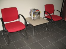 Venice Linea Chairs With Arms. Black Sled Base. Any Fabric Colour
