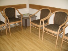 Manuela Timber Frame Waiting Room Chairs. Any Fabric Colour