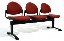 Appin Round Back Beam Seating. 2, 3, 4 Seats. Any Fabric Colour. Base Options