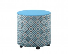 Sit Drum Ottoman. 450 Dia X 450 H. Any Fabric Colour