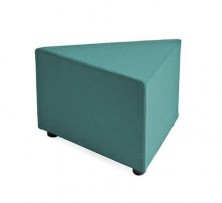 Triangle Ottoman. 600 X 600 X 450 H. Any Fabric Colour