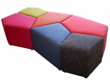 Jumble Ottomans. Comes In A Set Of 6. Upholstered In Any Fabric Colour