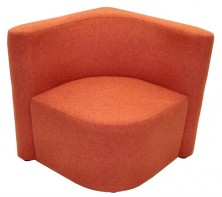Konnect Modular Ottoman With Back 2 Sides. Available Any Colour