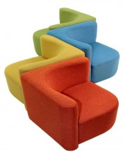 Konnect Ottoman Modular Seating. Cluster Of 4. Any Fabric Colour