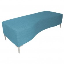 Wave Ottoman. Feature Curved Front. 1500 X 600 X 450 H. Any Fabric Colour