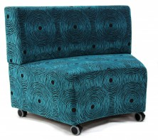 Glow Lounge Ottoman With Back. Fabric Any Colour