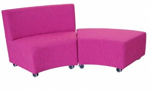Glow Lounge Ottomans. Shows Cluster Combination. Fabric Any Colour