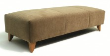 Modena Ottoman. Timber Leg. Any Fabric Colour. 400 High. 3 Sizes: 650 X 650 Or 1100 X 650 Or 1600 X 650