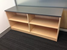 Ecotech Credenza Open Bookcase With Adjustable Shelves 1800 L X 450 W X 725 H