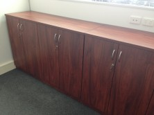 Special Custom Credenza. 3 Units To Sit Side By Side With 6 Hinged Doors 3000 L X 550 W X 1000 H