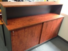 Ecotech Sliding Door Credenza. 1800 L X 900 H X 600 D With Hutch Unit