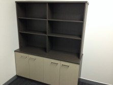 Ecotech 1500 L X 600 D X 725 H. Credenza 4 Door. Special Handle. Overhead Bookcase In MM2