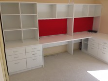 Custom Made Workstation, Hutch Bookcase Units. MM1 Or MM2 Melamine