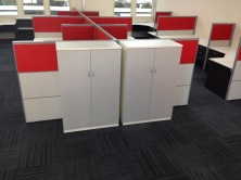 Axis 18 Storage Cupboard 1350 H X 450 D X 900 W. 2 Hinged Doors. MM1 Or MM2 Colours