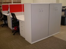 Storage Cupboards. 2 Hinged Doors With Adjustable Shelves. MM1 Or MM2 Colours