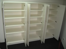 Storage Cupboards With Hinged Doors And Adjustable Shelves