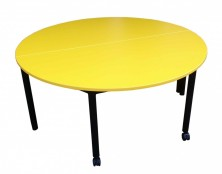2 X Half Moon Tables Together