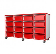 Mobile Tote Tray Unit   16 Trays