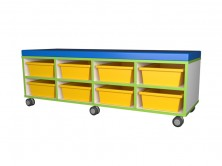Tote Tray Seat   Yellow