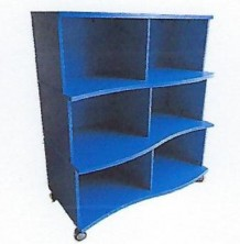 Mobile Shaped Bookcase