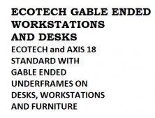 Ecotech And Axis 18 Workstations And Desks, Choice Of MM1 Or MM2 Melamine Colours