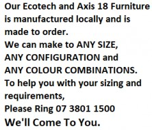 Ecotech And Axis 18 Furniture Locally Manufactured And Made To Any Size, Configuration And Colour