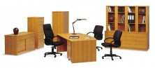 Ecotech Office Furniture Setting In Timber Grain MM2 Melamine