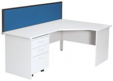 Ecotech Workmate 90 Degree Workstation 1800 X 600 X 1200 X 600 Truncated Corner.