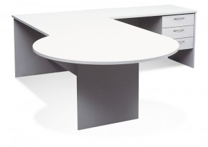 Ecotech P End Conference Desk. P End Facing Out. 2 Sizes 1800 X 750 X 900 Dia Or 2400 X 900 X 1200 Dia With 1200 X 600 Return