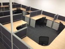 Ecotech Gable Ended Workstation With Staxis 1200 High Screens. Choice Of Colours