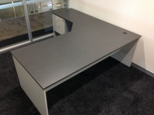 Ecotech Rectangular Shape Desk 1800 X 900. Attached Splayed 900 X 450 Return With Fitted Pedestal