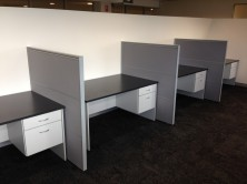 Axis 18 Desks 1500 X 750 With Fitted Pedestal. Choice Of MM1 Or MM2 Melamine Colour Range