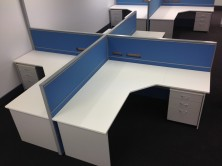 90 Degree Truncated Corner Workstations. Sizes 1800 X 600 X 1800 X 600 Or 1800 X 750 X 1800 X 750 Or 1800 X 750 X 1800 X 600