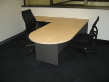 Axis 18 D End Desk 1800 X 900 With Attached 900 X 600 Return