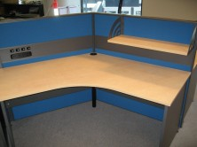 Ecotech 120 Degree Gable Ended Workstation. Various Sizes