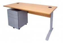 Ecotech Metal C Leg Desk. Choice Of MM1 Or MM2 Top. Metal Mobile Pedestal