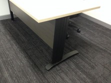 Photo Shows Black C Leg Along With MM2 Melamine Modesty. Choice Of Melamine Colour Range