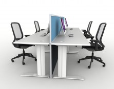 Ecotech Metal C Legs Desks. Choice Of Sizes. 1200, 1350, 1500, 1650, 1800 Long X 600, 700, 750 Deep