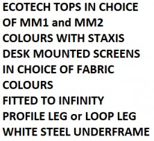 Ecotech Made To Order Back To Back Workstations Choice Of Colours On Infinity Leg Frames