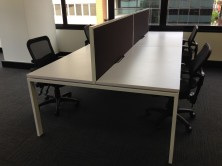 Ecotech Infinity Workstations. Profile Legs On Back To Back Workstations.Sizes 1200 X 700, 1500 X 700, 1800 X 700