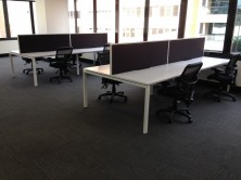 Ecotech Infinity Workstation Back To Back. Profile Leg. Std Desk Depth 700 X Lengths 1200, 1500, 1800