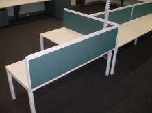 Staxis 500 High Desk Mounted Screens. Choice Of Colours Fitted To Ecotech Tops