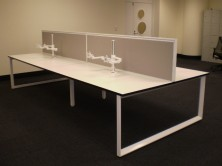Ecotech Tops. Loop Double Leg For Back To Back Workstation With Staxis Screens. Choice Of Fabrics