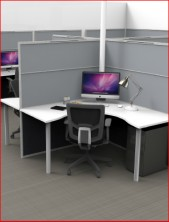 Ecotech Screen Mounted Workstation Tops With Steel Round Leg And Brackets