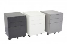 GMP3 Metal Mobile Pedestals 472 Wide. White, Silver, Black, Charcoal