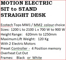 Motion Electric Sit And Stand Straight Desk