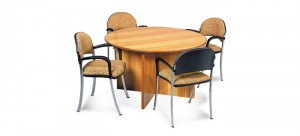 Avanti 33  1200 Dia Meeting Table On Timber Cross Form Base
