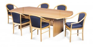 Avanti 33 Bow End Boardroom Table On H Base