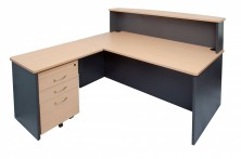 Ecotech Reception Desk. Rectangular Shape. Full Modesty. Rectangle Shape Counter Top And Return